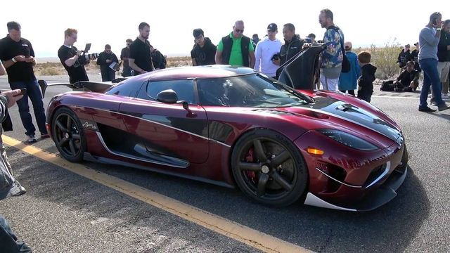 Koenigsegg Agera RS. Kaader: Youtube